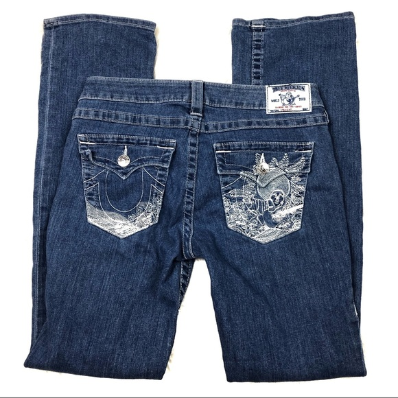 True Religion Denim - True Religion Embroidered Buddha Straight Leg